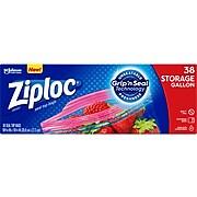 Ziploc Storage Bags, Gallon, 38/Box (314470)