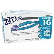 Ziploc Freezer Bags, Gallon, 250 Bags/Carton (682258)