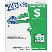 Ziploc Sandwich Bags, 500 Bags/Carton (682255)