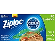 Ziploc Sandwich Bags, 90 Bags/Box (315885)