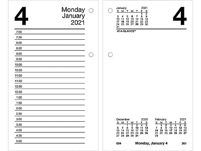 R R 2004 QuickNotes R Flip-A-Week At-A-Glance Desk Calendar Refill
