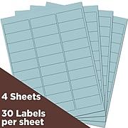 """JAM Paper Laser/Inkjet Mailing Address Label, 1"""" x 2 5/8"""", Baby Blue, 30 Labels/Sheet, 4 Sheets/Pack (4052894)"""