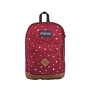 JanSport City View Remix Backpack, Stars, Red (JS0A47LU7C3)