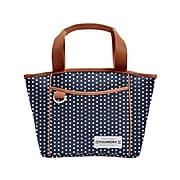 Fit & Fresh Kinsley Lunch Bag, Navy/White Dot (7225FFA2510)