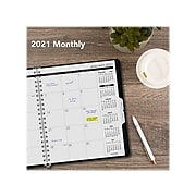 """2021-2023 AT-A-GLANCE 9"""" x 11"""" Planner, Black (70-236-05-21)"""