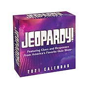 "2021 Jeopardy 5.4"" x 5.4"" Day-to-Day Calendar, White/Black (9781524857295)"