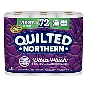 Quilted Northern Ultra Plush 3-Ply Standard Toilet Paper, White, 284 Sheets/Roll, 18 Rolls/Case (874685)