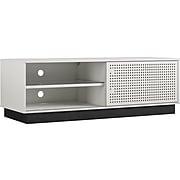 "Ameriwood NTense Glitch MDF/Metal TV Stand, White, Screens up to 60"" (5027013COM)"