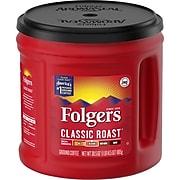 Folgers Classic Roast Ground Coffee, Medium Roast, 30.5 oz. Canister (SMU02042)