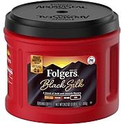 Folgers Black Silk Ground Coffee, Dark Roast, 24.2 oz. (02054)