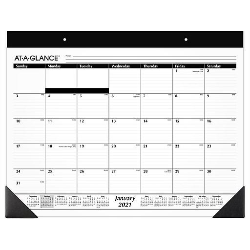 "2021 AT-A-GLANCE 17"" x 22"" Desk Pad Refill Calendar, White ..."