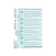 """ComplyRight COVID-19 Fact vs Myth Poster, Spanish, 10"""" x 14"""", Teal/White (N0105)"""