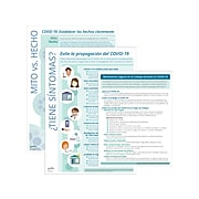 """ComplyRight COVID-19 Employee Preparedness Poster Kit, Spanish, 10"""" x 14"""", Teal/White (N0100)"""
