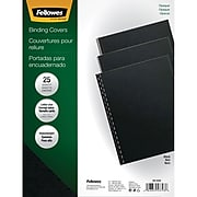 "Fellowes Futura Presentation Covers, 8.5""W x 11""H, Black, 25 Pack (5224901)"
