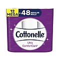 Cottonelle Ultra ComfortCare 2-Ply Standard Toilet Paper, 284 Sheets/Roll, 12 Rolls/Case (48596)
