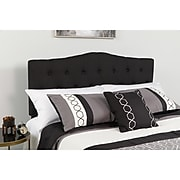 """Flash Furniture HERCULES Series Twin Headboard Fabric, 39.25""""W x 3""""D x 43.75"""" - 56.25""""H, Black (HGHB1708TBK)"""