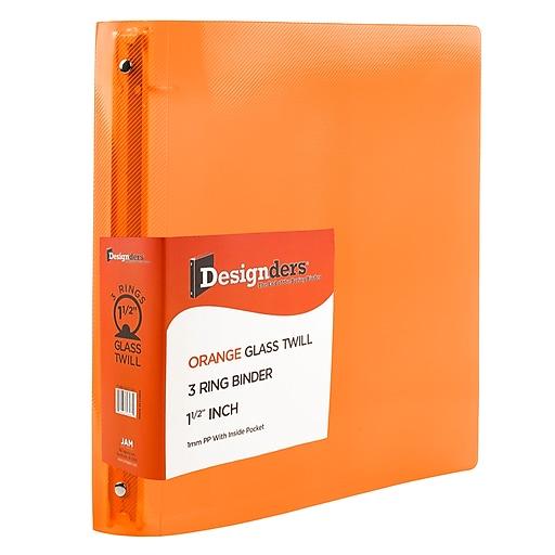Shop Staples For JAM Paper® Plastic 3 Ring Binder, 1.5