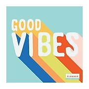 """2020-2021 TF Publishing 12"""" x 12"""" Planner, Best Life, Good Vibes (21-4704A)"""
