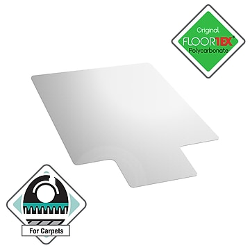 """Floortex® Ultimat® 35"""" x 47"""" Rectangular with Lip Chair Mat for Carpets over 1/2"""", Polycarbonate (118927LR)"""