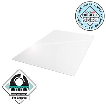 """Floortex® Advantagemat® 48"""" x 60"""" Rectangular Chair Mat for Carpets up to 1/4"""", Vinyl (1115225EV)"""