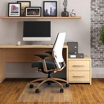 "Floortex® Advantagemat® 48"" x 60"" Rectangular Chair Mat for Hard Floors, Vinyl (1215020EV)"