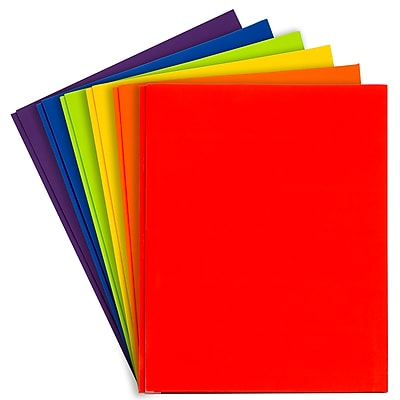 Assorted Colored Folders with 2 Clear Pockets Used for Office and School Supplies Samsill 6 Pack Folders with Pockets