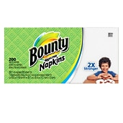 Bounty Quilted Dinner Napkins, 1-Ply, 200/Pack (34885)