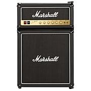 Marshall Embossed Plastic 4.4 Cubic-Foot Bar Fridge with Freezer, Black (MF4.4BLK-NAU)