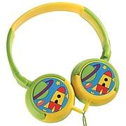 Volkano Kiddies Boys Junior Explorer Stereo Headphones, Green (VK-2000-BJE)
