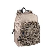Cheetah Fur Backpack, Animal Print, Gold Glitter (8141STA)