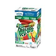 Betty Crocker Fruit Roll-Ups, Strawberry/Tropical Tie-Dye, 0.5 Oz., 72/Pack (49582)