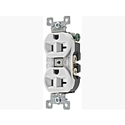 Bryant Heavy Duty Specification Grade Duplex Receptacle 20A, White (5362BW)