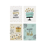 """Better Office Birthday Cards with Envelopes, 6"""" x 4"""", Assorted Colors, 100/Pack (64530)"""