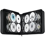 Nylon CD/DVD Binder, Capacity 208, Black