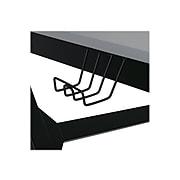 "Studio Designs Zone 52"" Metal Computer Desk, Silver/Black (51255)"