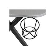 "Studio Designs Challenger 53"" Metal Computer Desk, Silver/Black (51256)"