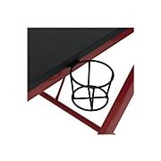 "Studio Designs Quest 52"" Metal Computer Desk, Red/Black (51254)"