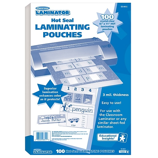 Educational Insights Classroom Laminator Pouch Silver At Staples