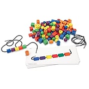 Learning Resources Beads and Pattern Cards Activity Set, 130 Pieces (LER0139)
