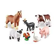 Learning Resources Jumbo Farm Animals, Set of 7 (LER0694)