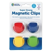 Learning Resources Super Strong Magnetic Clips, Pack of 4 (LER2692)