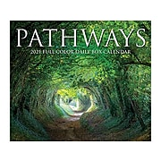 """2021 Willow Creek 4.25"""" x 5.25"""" Day-to-Day (Box) Calendar, Pathways, Multicolor (14394)"""