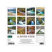 "2020-2021 Willow Creek 12"" x 12"" Wall Calendar, A River View, Multicolor (10280)"