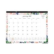 """2021 Blue Sky 17"""" x 22"""" Desk Pad Calendar, Peach Peonies by Jenna Rainey, Multicolor (125276)"""