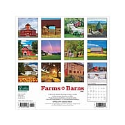 "2020-2021 Willow Creek 12"" x 12"" Wall Calendar, Farms & Barns, Multicolor (11683)"