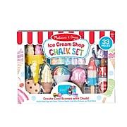 Melissa N Doug Ice Cream Shop Set Sidewalk Chalk, Assorted Colors (30622)