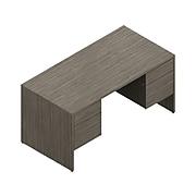 "Global Genoa 60"" Double Pedestal Desk, Absolute Acajou (G3060DPACJ)"