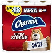 Charmin Ultra Strong 2-Ply Mega Roll Toilet Paper, 286 Sheets, 12 Rolls/Pack (75321)