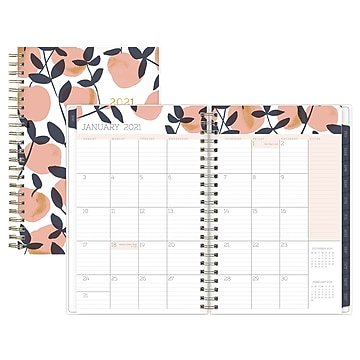 "2021 Blue Sky 5"" x 8"" Planner, Egg Press, Peaches Pink (121868)"