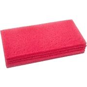 Nilfisk Cleaning Floor Pad, Red, 5/Pack (997001)